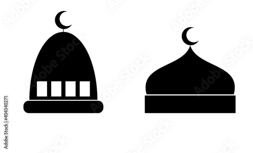 Fototapeta Masjid dome vector icon