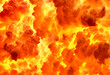 canvas print picture - Texture of a fiery explosion