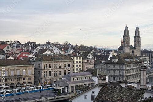 Obraz View Of Cityscape Against Cloudy Sky - fototapety do salonu