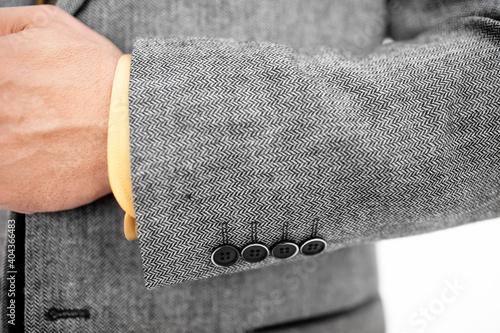 Fototapeta premium Midsection Of Man Wearing Suit