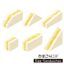 Egg Sandwich.Isometric Colorful Illustration.