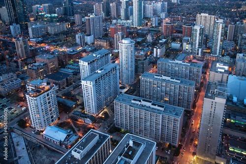 Fototapeta premium High Angle View Of City