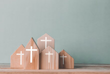 Village Of Church For Catholics , Community Of Christ , Concept Of Hope , Christianity , Faith, Religion And Church Online.