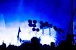 Leinwandbild Motiv Balloons At Music Concert