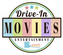 Retro Vintage Drive-in Movies Label