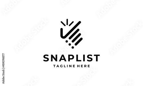 Leinwand Poster snap hand check list data schedule logo design template