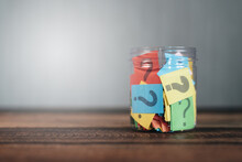 Question Mark In A Jar