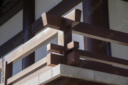 Obraz na plátne 木造建築のほぞ継ぎ構造
