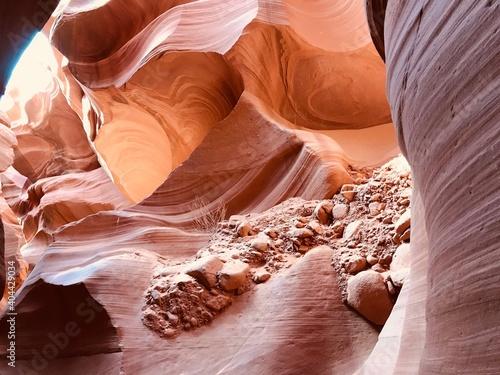Billede på lærred Rock Formation In Water