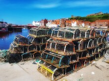 Crab And Lobster Pots At Whitby Harbour