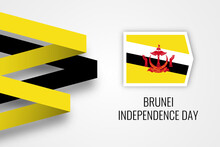Happy Independence Day Brunei Darussalam Illustration Template Design