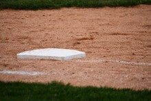 Close Up Of Baseball Infield