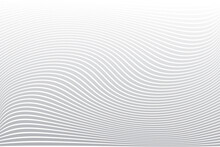 Absttact Wavy Lines Texture. White Striped Background.