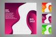 Set of sale banner template design. Editable post template social media banners for digital marketing. Vector illustration.