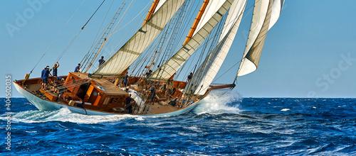 Fotografering Sailing yacht regatta. Yachting. Sailing