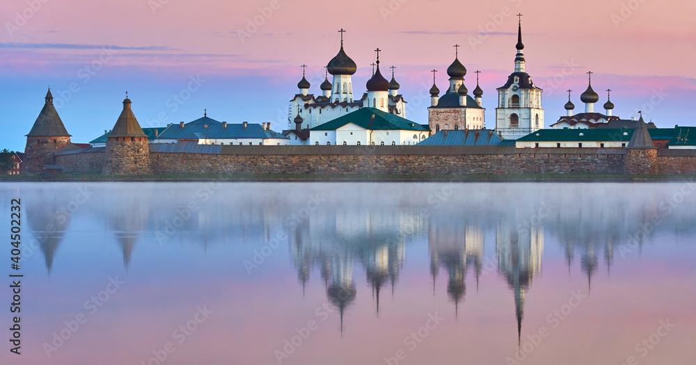 Fototapeta Travel in Russia.  Solovki Island. Solovetsky Monastery