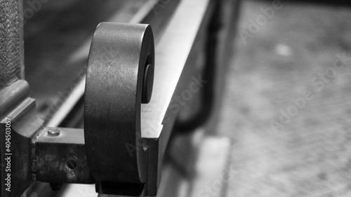Obraz na plátně Close-up Of Metal Railing