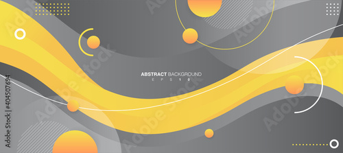 Obraz Abstract Wavy Background. Gray and Yellow Trendy Colors 2021. Vector EPS 10 - fototapety do salonu