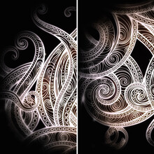 Fantastic Abstract Octopus In Ornamental Style
