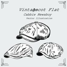 Vintage Newsboy Hat Vector