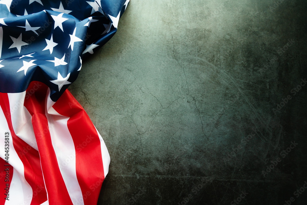 Fototapeta Martin Luther King Day Anniversary - American flag on abstract background