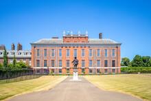 London, UK - June 30, 2018: Facade View Of Kensington Palace,  A Royal Residence Set In Kensington Gardens