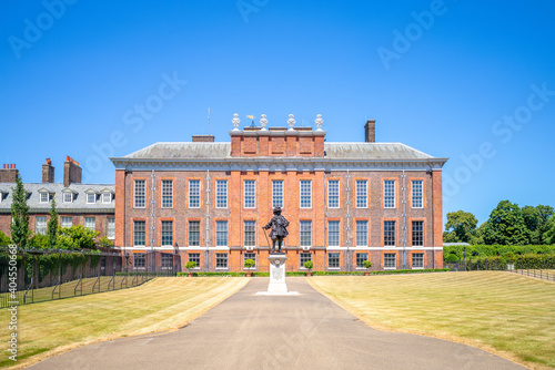 Fotografie, Obraz London, UK - June 30, 2018: facade view of kensington palace,  a royal residence