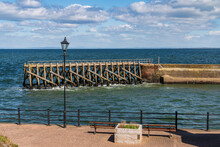 The End Of The Pier In Maryport, Cumbria, England, UK