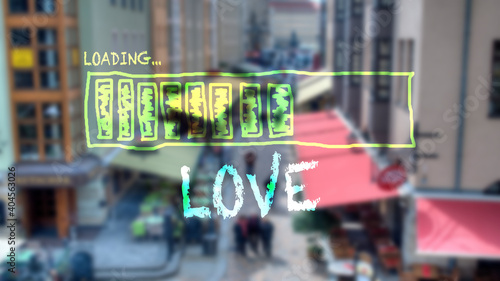 Fotografering Street Sign to Love