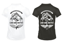 Vintage Law And Justice Prints Template