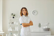 Leinwandbild Motiv Cosmetologist doctor dermatologist in a beauty clinic.
