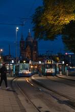 Amsterdam Tramline In The City Centre