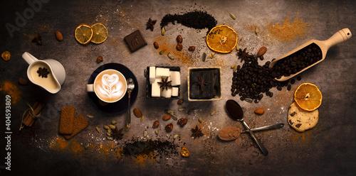 Fotomural food photographie café, coffee