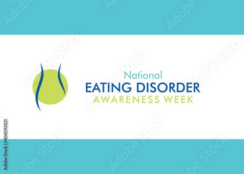 national eating disorder awareness week Fototapeta