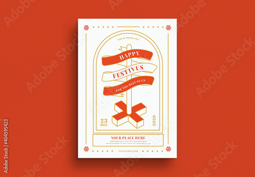 Obraz Festivus Flyer Layout - fototapety do salonu