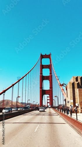 фотография Golden Gate Bridge Against Clear Blue Sky