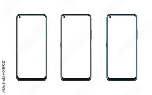 Phone mockup in three colors Fotobehang