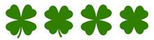 Four Leaf Clover Simple Icon Set Vector