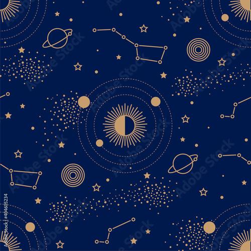 Fotografija Seamless pattern with night sky map