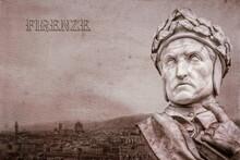 Dante Vor Panorama Von Florenz