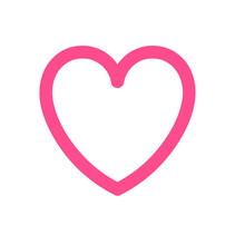 Pink Silhouette Vector Heart Shape Line Art Stencil Drawing.Decor. Decoration. Wedding Icon. Valentine's Day. Plotter Cut. Laser Cutting. Holidays Gift Card.Passion.I Love You.Frame.T Shirt Print.