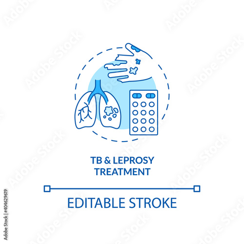 Fototapeta Tuberculosis and leprosy treatment concept icon
