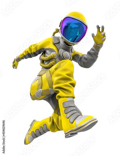 Fotografie, Obraz astronaut girl jumping fast