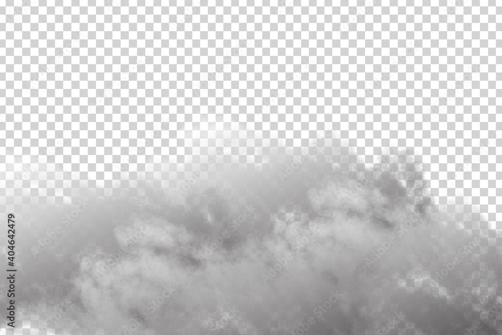 Obraz Vector realistic isolated cloud sky for template decoration and covering on the transparent background. Concept of storm and cloudscape. fototapeta, plakat