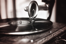 Close-up Of Vintage Record Player Needle