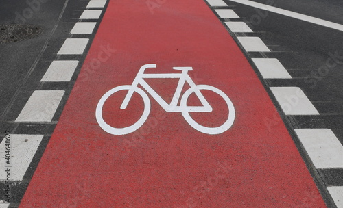 Obraz High Angle View Of Bicycle Lane In City - fototapety do salonu