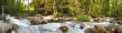 Obraz Scenic View Of Waterfall In Forest - fototapety do salonu