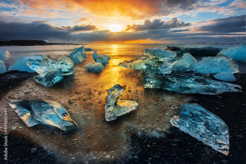 Obraz Scenic View Of Sea During Sunset - fototapety do salonu