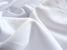 Full Frame Shot Of White Fabric