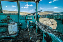 Old School Bus Driver's Cabin In The Palouse, WA